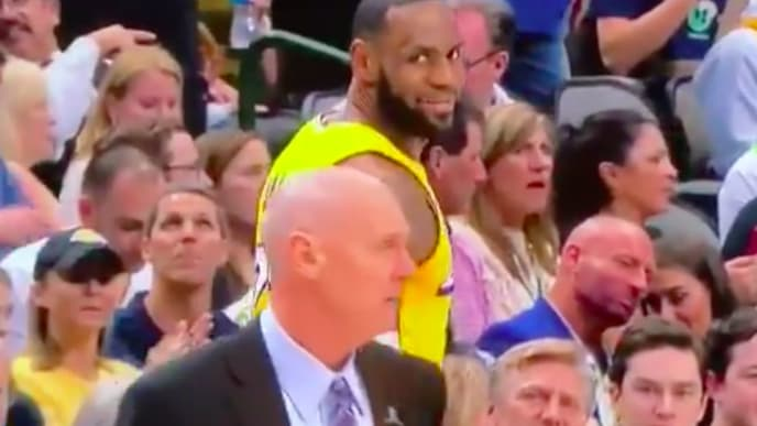 LeBron James and Rick Carlisle exchanged words Friday night.