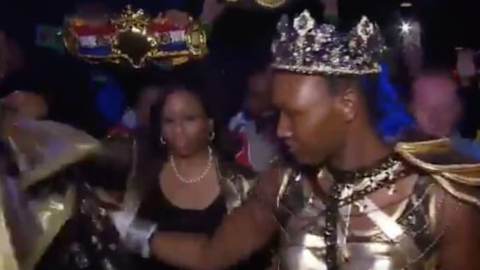 Undisputed middleweight champion Claressa Shields channels her inner Queen Bey