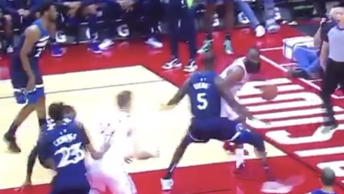 James Harden embarrasses Timberwolves defenders with absurd series of moves