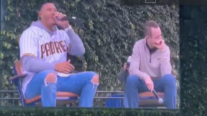 Manny Machado got a little too excited during Padres FanFest.