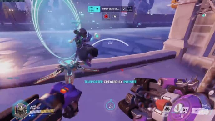 An Overwatch team outplayed their opponents in an overtime situation on Volskaya Industries.