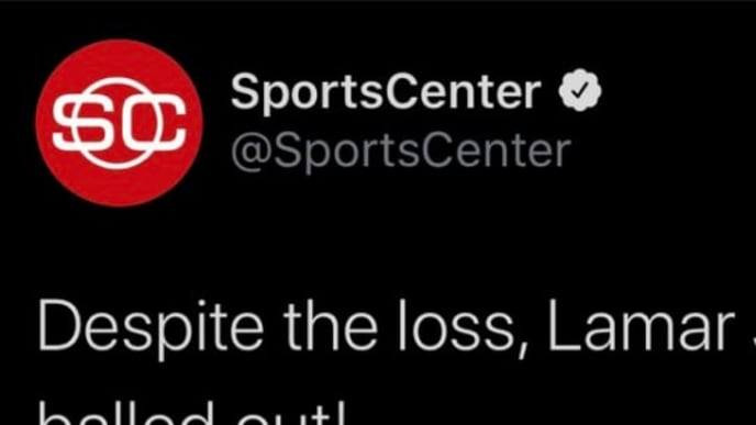 Sportscenter account deleted and reposted Tweet praising Lamar Jackson