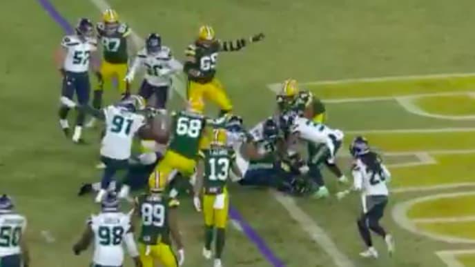 Green Bay Packers RB Aaron Jones scored a questionable touchdown.