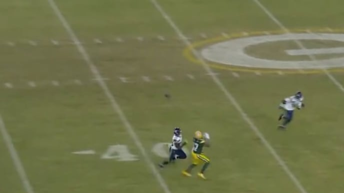 Aaron Rodgers unleashes absolute dime on third and long to secure Packers win over Seahawks.