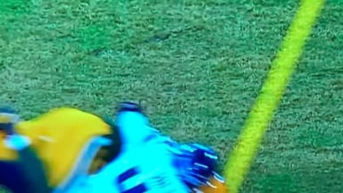 Green Bay Packers TE Jimmy Graham was clearly short of the first down.
