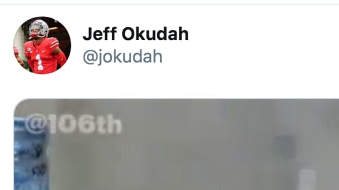 Ohio State CB Jeff Okudah has priceless reaction to Clemson fans complaining about targeting