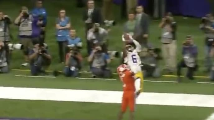 LSU WR Terrance Marshall catches Joe Burrow's 60th TD pass of season
