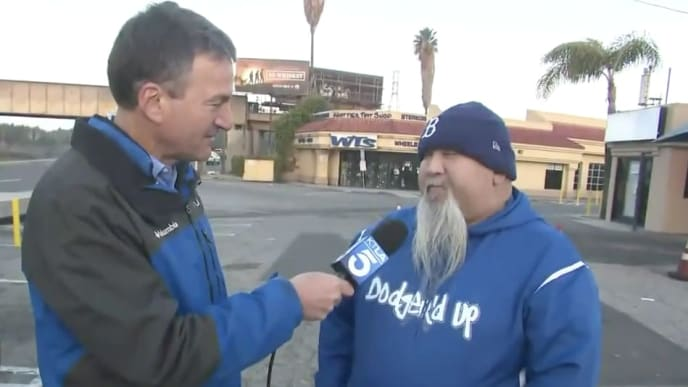 """LA Dodgers fan Jose """"Blue Beard"""" Lara and his friends are attempting to sue the Houston Astros."""