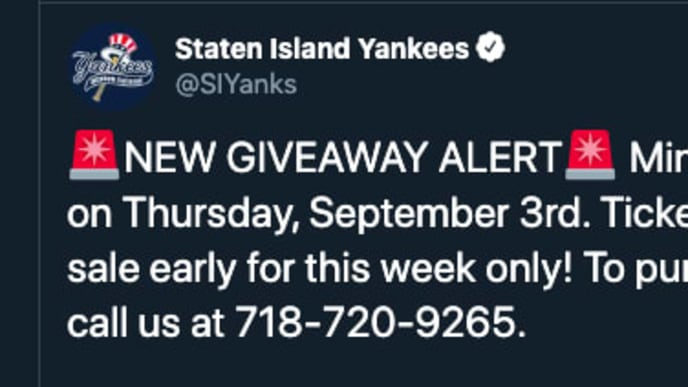 The newest promotion from the Yankees Single-A affiliate is one you have to see to believe.