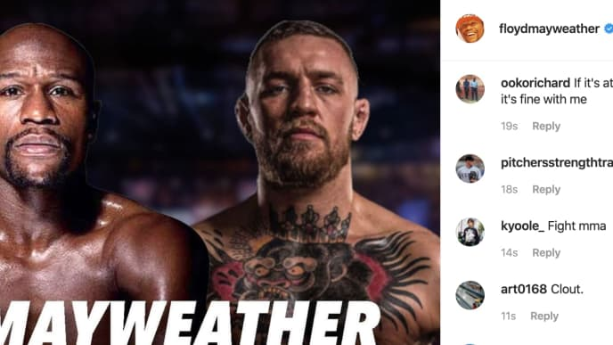 Floyd Mayweather teased a rematch with Conor McGregor immediately following UFC 246
