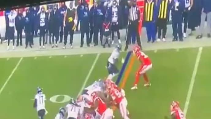 Official appeared to throw penalty flag before ball was even snapped during AFC Title Game.