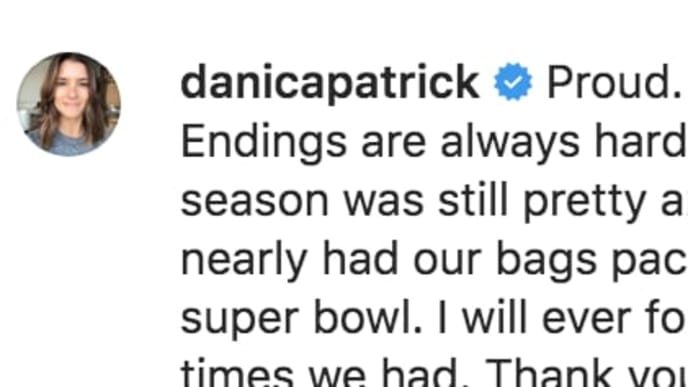 Danica Patrick supports Aaron Rodgers after Packers loss to 49ers