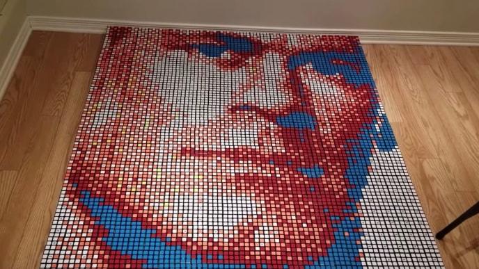 John Cena Rubik's Cube portrait