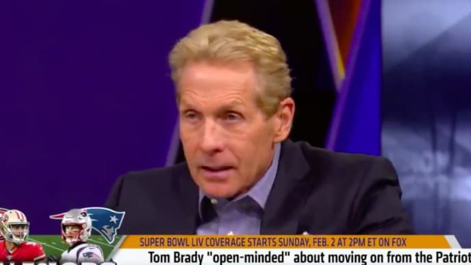 Skip Bayless has wildest possible take on where Tom Brady may land in 2020.