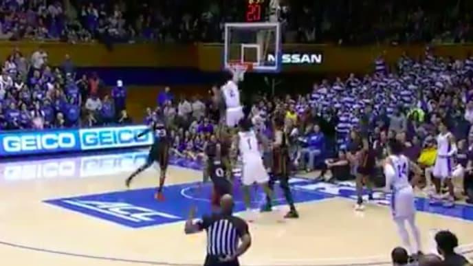 Duke's Cassius Stanley threw down a huge dunk against Miami.