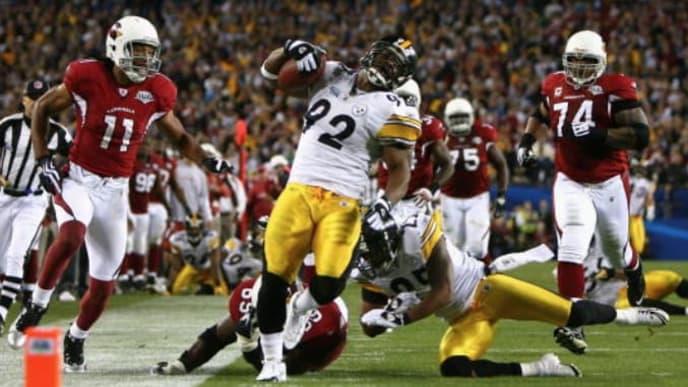 Steelers LB James Harrison in Super Bowl XLIII