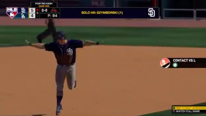 MLB the Show has built in a new user-celebration for home runs.