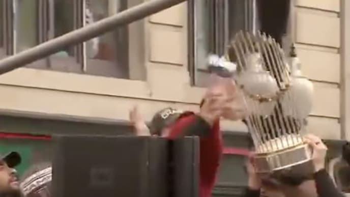 Red Sox Have Been Completely Cursed Since Some Idiot Broke Their 2018 World Series Trophy With a Beer Can