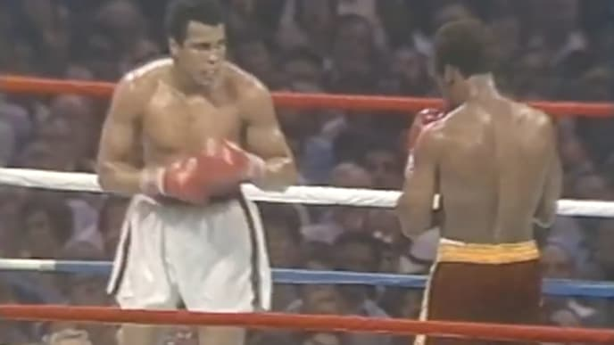 Muhammad Ali beat Leon Spinks to become the first-ever three-time world heavyweight champion
