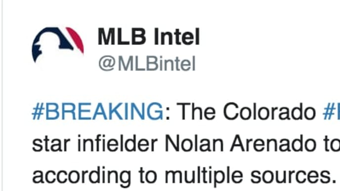 Twitter user says Nolan Arenado has been traded to White Sox
