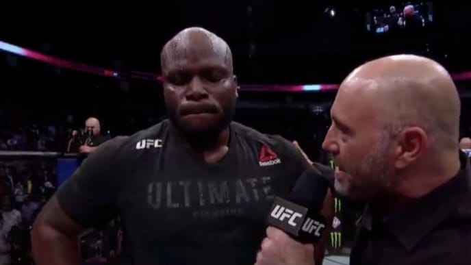Derrick Lewis postfight interview at UFC 247