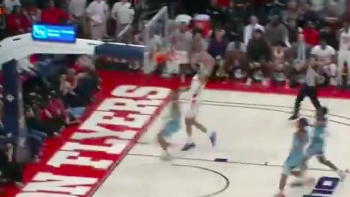 Dayton Flyers forward Obi Toppin threw down a huge dunk over his brother Tuesday night.
