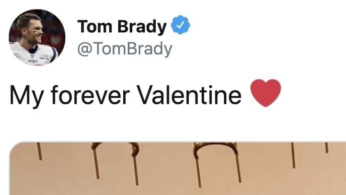 Tom Brady and Gisele showed off on Valentine's Day