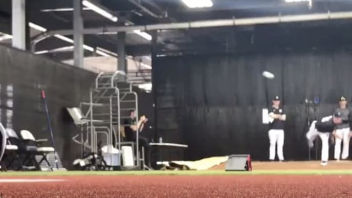 Gerrit Cole is already getting Yankees fans excited with videos of his bullpen sessions.
