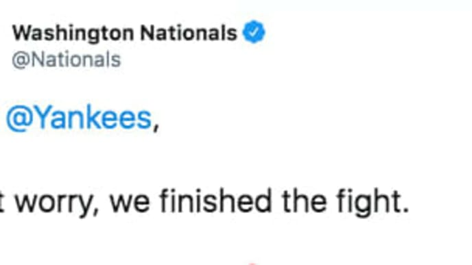 Washington Nationals Twitter Account went scorched earth for Valentine's Day