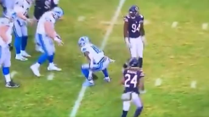 Refs literally let Lions receiver Kenny Golladay to spot the ball himself, but added a couple yards.