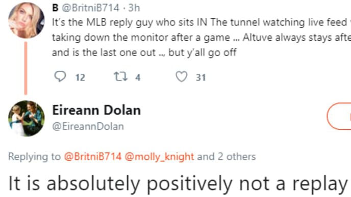 Sean Doolittle's wife destroys an Astros fan for their weak explanation of the sign-stealing scandal