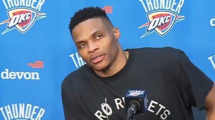 Westbrook jugó por primera vez en la cancha del Thunder en el equipo visitante