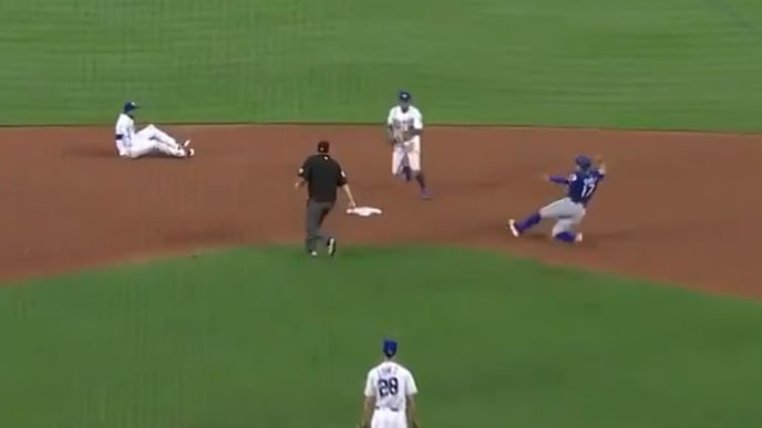 Kansas City Royals shortstop Adalberto Mondesi pulled off a ridiculous double play on Wednesday.