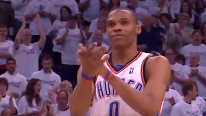 Get excited for the Russell Westbrook-James Harden reunion with a flashback performance in 2010.