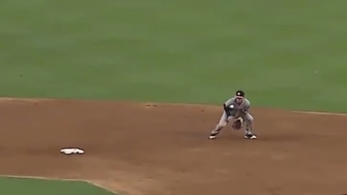 Alex Bregman took a bad hop grounder to the jaw on Thursday night, forcing him out of the game.