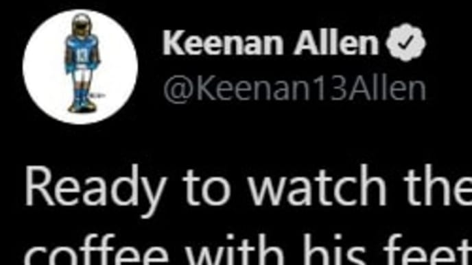 The NFL officials definitely don't have the support of Keenan Allen for playoff football.
