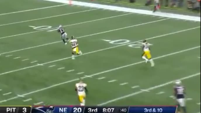 Tom Brady hits Phillip Dorsett with 58-yard touchdown on Sunday against Steelers.