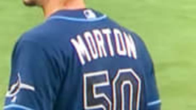 Rays pitcher Charlie Morton appears to have substance on neck during Tuesday's game against Yankees.