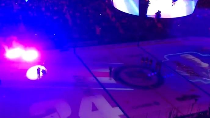 Rangers fans go nuts at Madison Square Garden for rookie Kaapo Kakko in season opener on Thursday.