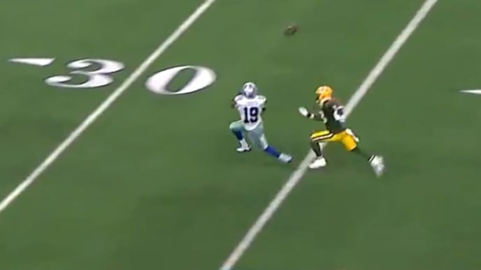 Amari Cooper's 53-yard touchdown brings the Cowboys closer to a comeback vs Packers on Sunday.