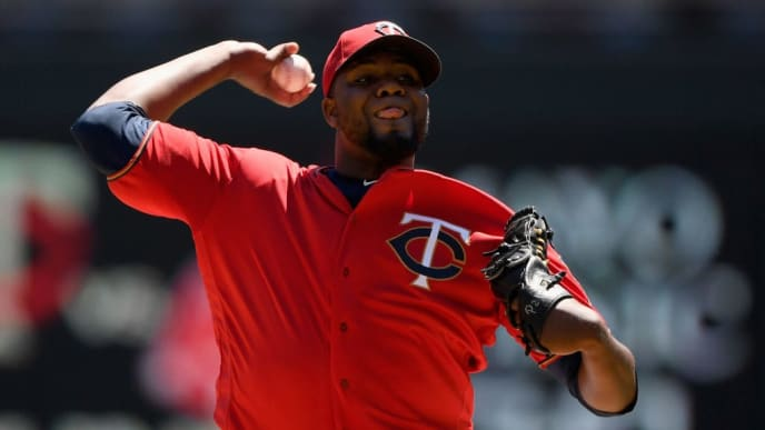 MINNEAPOLIS, MN - JUNE 13: Michael Pineda #35 of the Minnesota Twins delivers a pitch against the Seattle Mariners during the first inning of the game on June 13, 2019 at Target Field in Minneapolis, Minnesota. (Photo by Hannah Foslien/Getty Images)