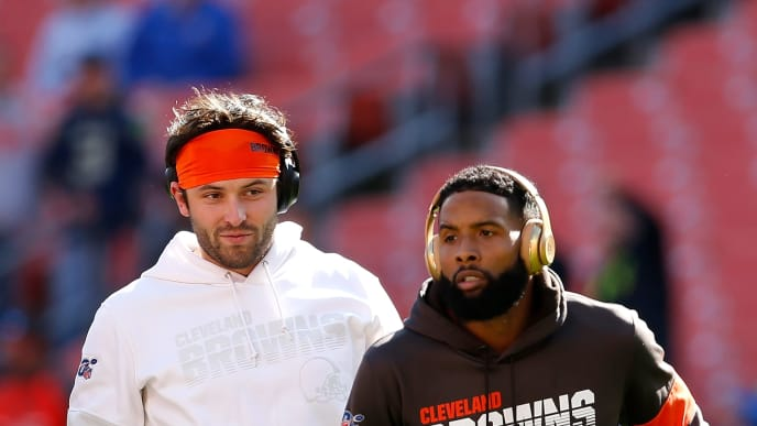 Baker Mayfield and Odell Beckham Jr.