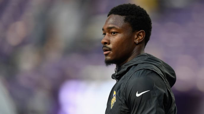 MINNEAPOLIS, MN - AUGUST 18: Stefon Diggs #14 of the Minnesota Vikings looks on before the preseason game against the Seattle Seahawks at U.S. Bank Stadium on August 18, 2019 in Minneapolis, Minnesota. (Photo by Hannah Foslien/Getty Images)