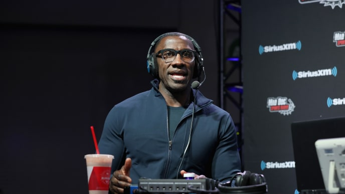 ATLANTA, GEORGIA - JANUARY 31: Shannon Sharpe attends SiriusXM at Super Bowl LIII Radio Row on January 31, 2019 in Atlanta, Georgia. (Photo by Cindy Ord/Getty Images for SiriusXM)
