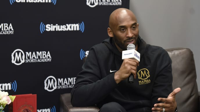 NEWBURY PARK, CA - MARCH 28:  SiriusXM Presents A Town Hall With NBA Legend Kobe Bryant at the Mamba Sports Academy on March 28, 2019 in Newbury Park, California.  (Photo by Vivien Killilea/Getty Images for SiriusXM)