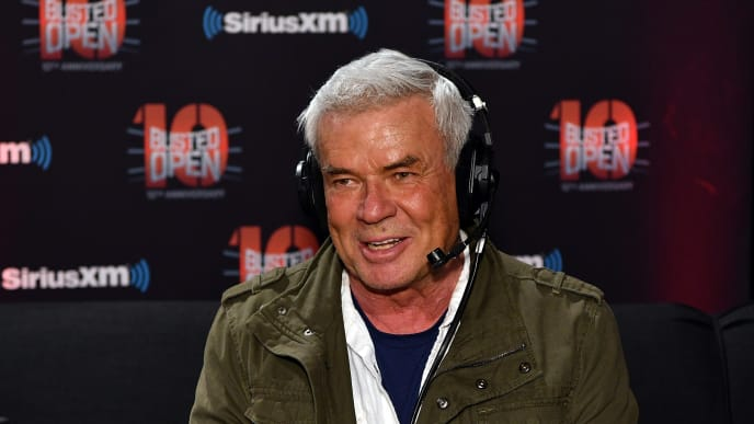"NEW YORK, NY - APRIL 06:  Eric Bischoff attends SiriusXM's ""Busted Open"" celebrating 10th Anniversary In New York City on the eve of WrestleMania 35 on April 6, 2019 in New York City.  (Photo by Slaven Vlasic/Getty Images for SiriusXM)"
