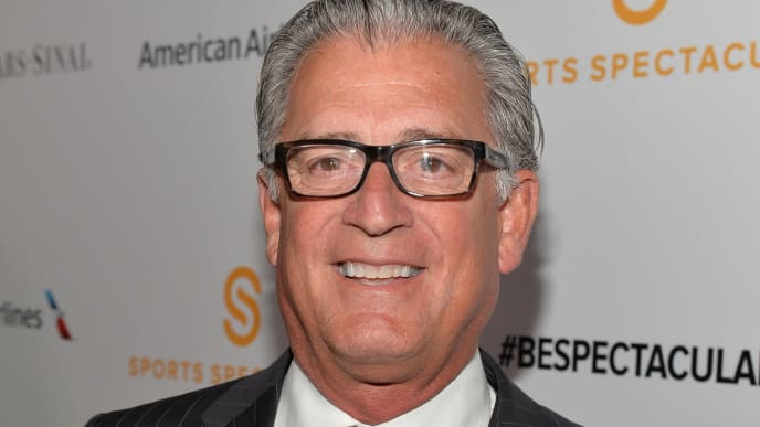 CENTURY CITY, CA - MAY 18:  TV Personality Mike Pereira arrives on the red carpet at the 2014 Sports Spectacular Gala at the Hyatt Regency Century Plaza on May 18, 2014 in Century City, California.  (Photo by Alberto E. Rodriguez/Getty Images for Sports Spectacular)