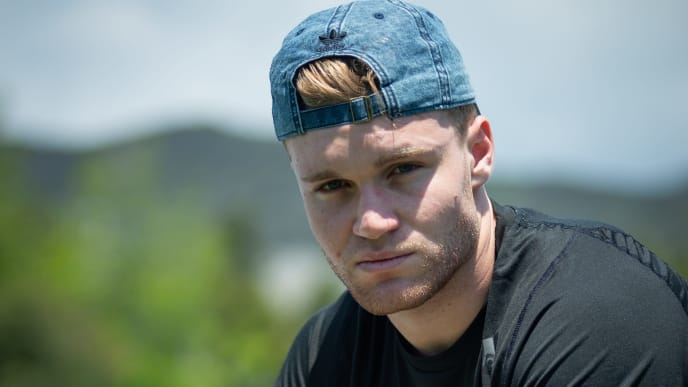 PACIFIC PALISADES, CA - MAY 26: Tate Martell of Ohio State University poses for portraits at Steve Clarkson's 14th Annual Quarterback Retreat on May 26, 2018 in Pacific Palisades, California. (Photo by Meg Oliphant/Getty Images)