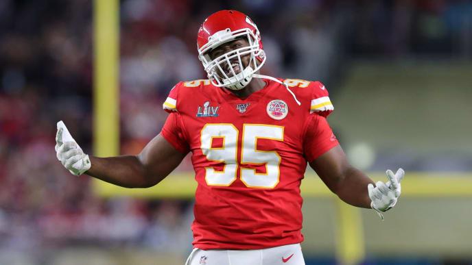 Kansas City Chiefs defensive tackle Chris Jones