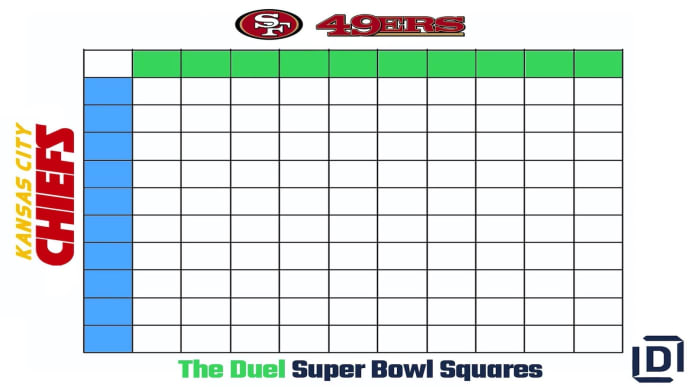 It's just a picture of Super Bowl Squares Printable regarding pool sheet